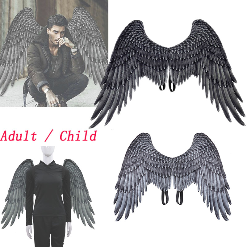 Maleficent Cosplay Angel Wings Prop Halloween Maleficent Adult / Child Costume Black Wing Accessories