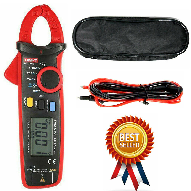 UNI-T UT210E Clamp Meter Pinza Amperimetrica VFC Electrical Instruments DC AC Current Voltage Tester Auto Range Multimeter