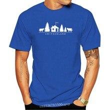 Männer T-Shirt Schweiz (Motiv mit Kuh Tanne Haus etc.) Geschenkidee