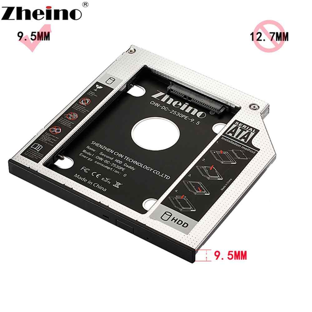 Zheino-SSD SATA3 con Caddy de 9,5mm, 60GB, 120GB, 240GB, 360GB, 480GB, 960GB, 256GB, 128GB, 1TB, 2. ª montura, adaptador de CD/DVD-ROM óptico