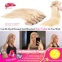 Ali Queen 613 Blonde Bundle 10A Unprocessed Virgin One-Donor Human Young Girl Straight 1/3/4 Brazilian Mink Hair Weave Extension