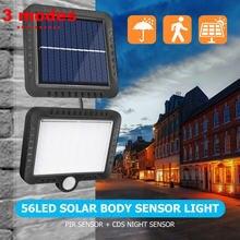 Умный солнечный светильник с датчиком движения pir waterpprof