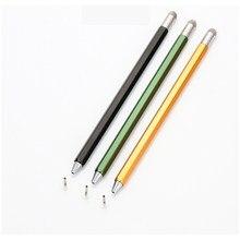 Магнитный стилус-ручка 2 в 1 из металлического сплава вращающаяся емкостная сенсорная ручка для телефонов IOS Android для Iphone 12