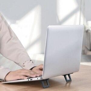 Image 2 - 1 쌍 미니 휴대용 보이지 않는 노트북 홀더 조정 가능한 냉각 스탠드 접이식 다기능 홀더 노트북 노트북