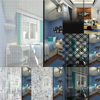 SUNICE Decor Window Film for Privacy Protection   Vinyl Sticker Film Creates Glass Look Perfect for Home and Office 1.52*30m