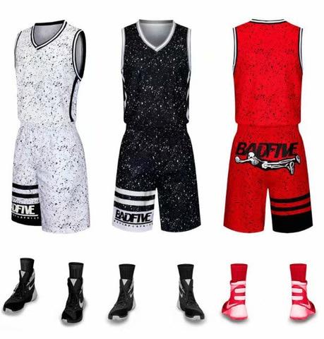 Uniforme sem Mangas Agasalho em Branco Terno de Treinamento Crianças Adultas Basquete Equipe Jérsei & Shorts Esportivo Personalizado
