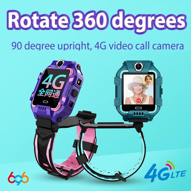 696 Y99A Kids 4G Smart Watch GPS+WiFi+LBS Location SIM Dual Camera 360-degree Rotation Smartwatch Smart clock Phone watches band