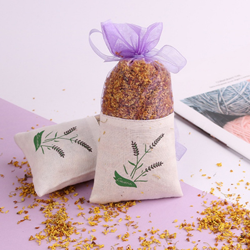 Rose Flowers Jasmine Lavender Bud Dried Flower Sachet Bag Aromatherapy Wardrobe Desiccant Sachet Car Room Air Refreshing