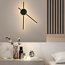 New Design Fashion LED Wall Lamps For Bedside Bar Cafe Dining Room Modern Black Lights Iron and Acrylic AC220V110V