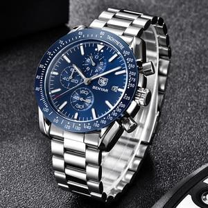 Image 2 - BENYAR 2019 メンズ腕時計トップの高級ブランドビジネススチールクォーツ時計カジュアル防水男性腕時計レロジオ Masculino