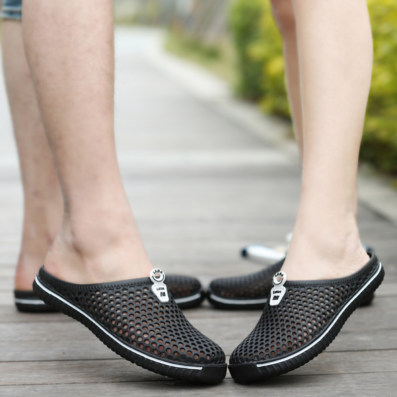 Men Shoes Unisex Summer Hollow Slippers Fashion Outdoor Breathable Casual Couple Beach Sandal Flip Flops Shoes Beach Slippers