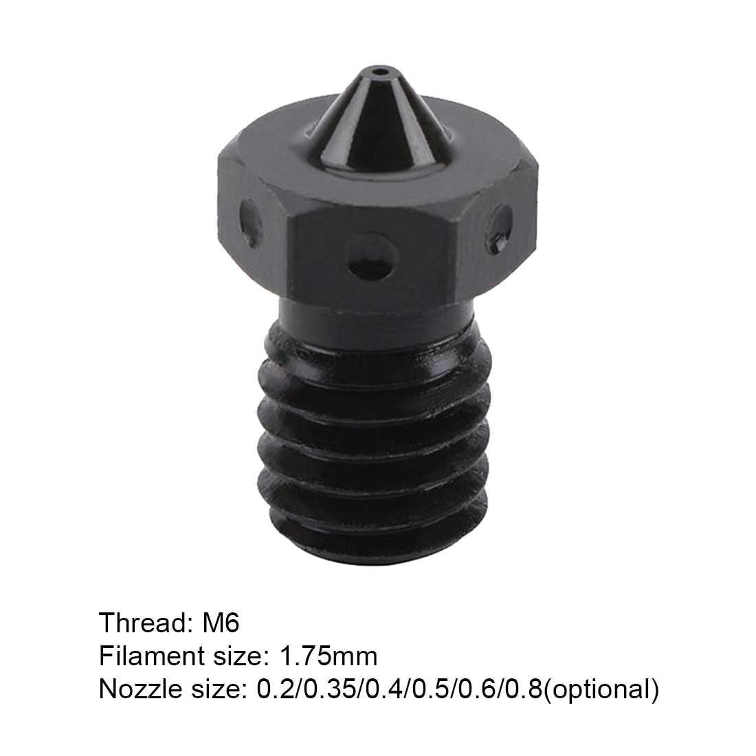 3D プリンタ部品 A2 硬化鋼 V6 ノズル E3D 印刷ペイ PEEK または炭素繊維フィラメントため HOTEND プリンタ部分