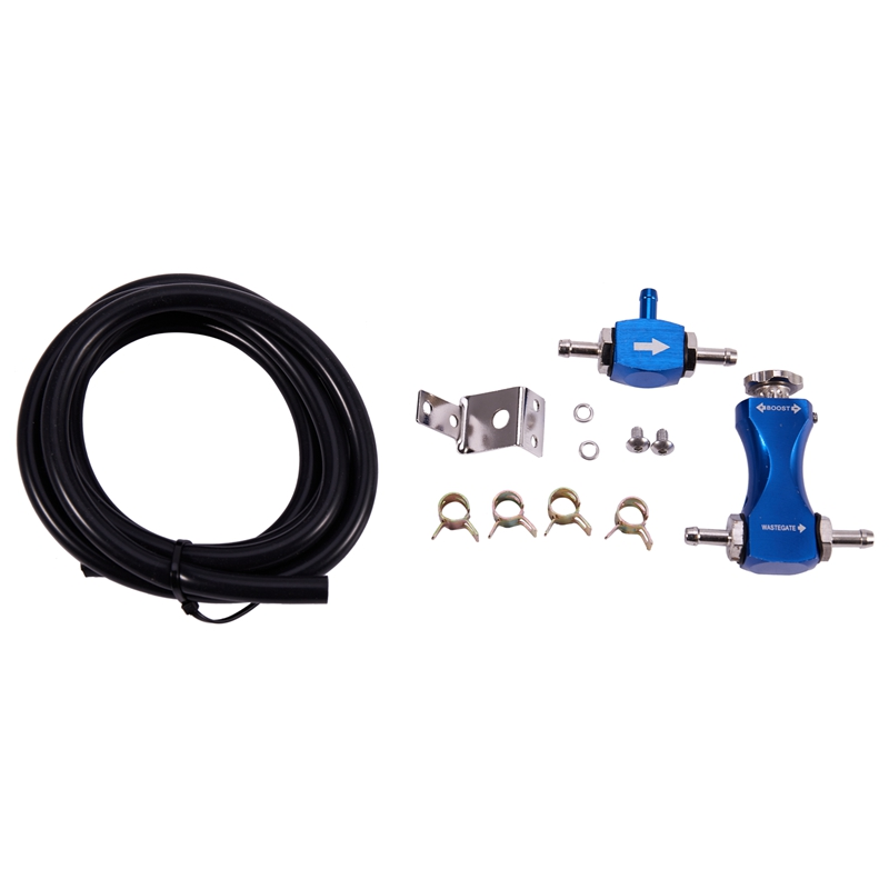 GOLD UNIVERSAL ADJUSTABLE RACING TURBO 30 PSI MANUAL BOOST BYPASS CONTROLLER KIT