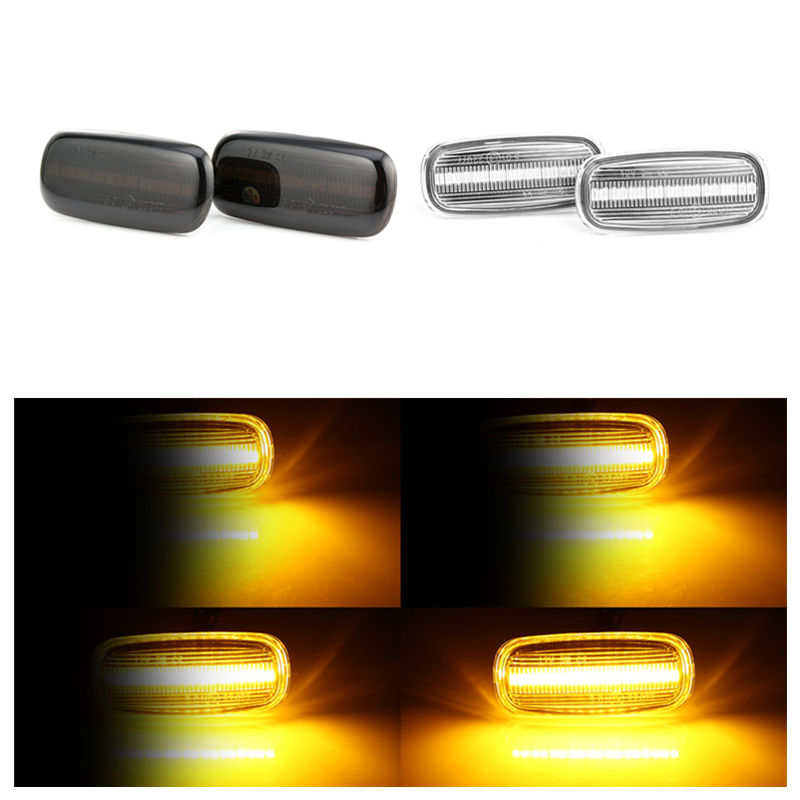 2 pieces Led Dynamic Blinker Side Marker Lights Flowing water Turn Signal Light Sequential Lamps For <font><b>Audi</b></font> A3 S3 <font><b>A8</b></font> D2 TT 8N image