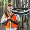600D Nylon Bandolier Black Ammo Bandolier Sling Shotgun Belt 140*5cm 25 Rounds Practical Adjustable Length Hunting Equipment