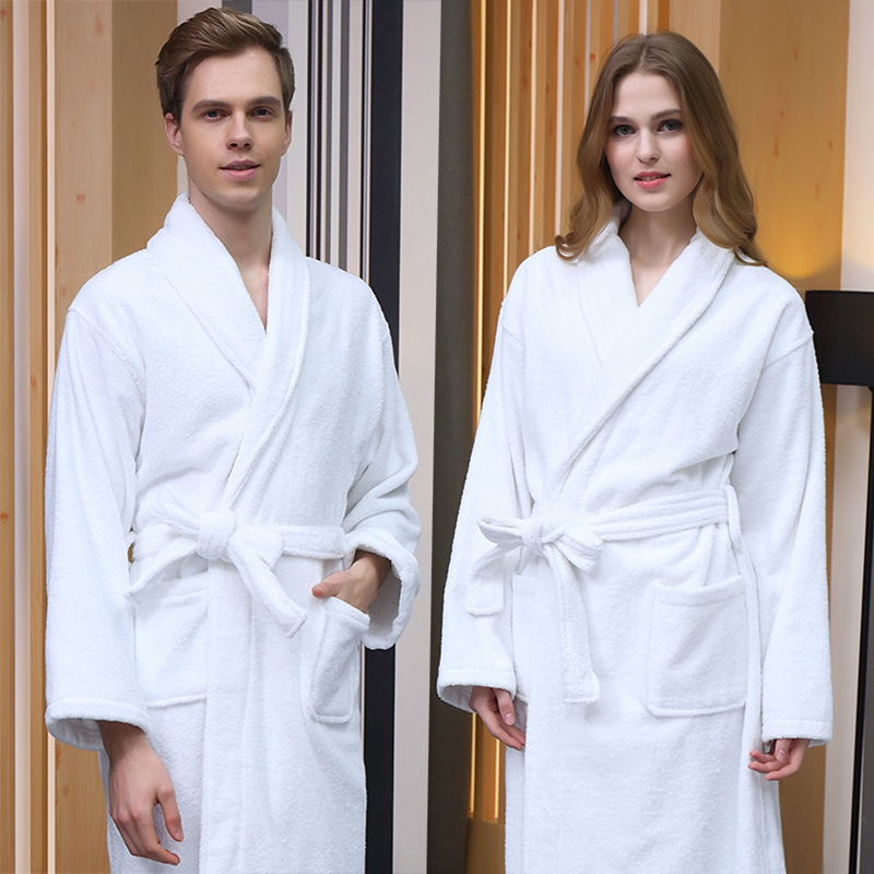 Women Bathrobe Winter Plus Size XL Long 100% Cotton Bathrobe Warm Bath Robe Thick Kimono Robes Dressing Gown Night Sleepwear
