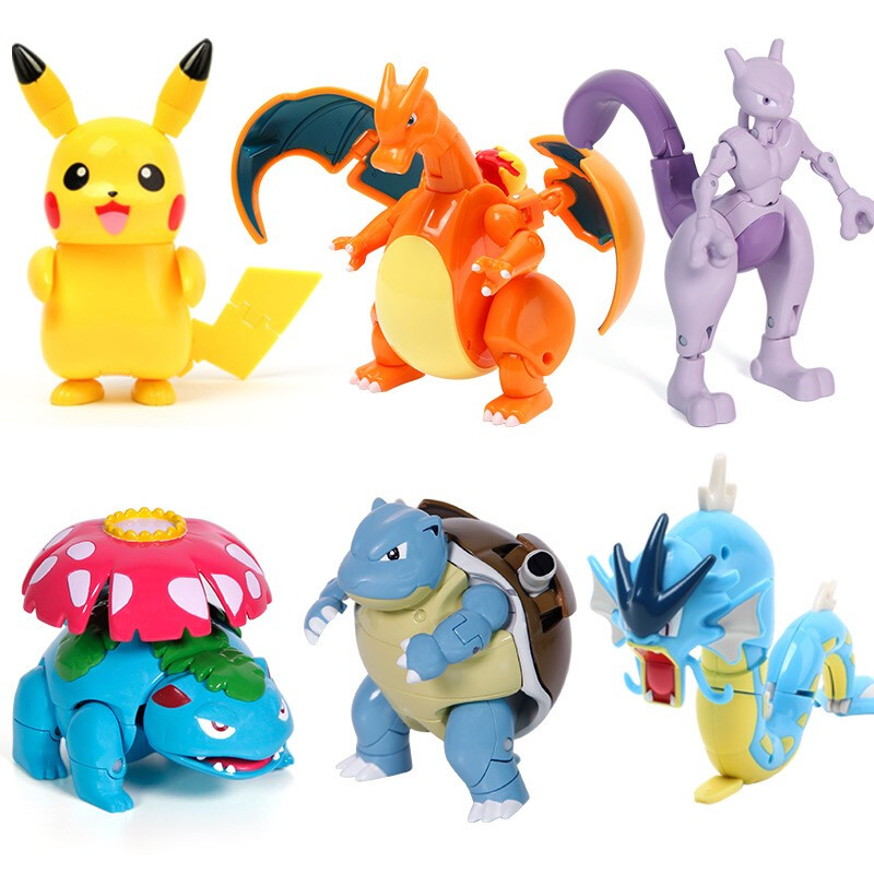 Genuine Pokemon Figure Elf Ball Model Pikachu Lunala Charizard Action Figure Model Pokemon Elf-ball Toy Set Kids Halloween Gift 2
