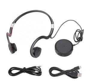 Image 1 - BN802 Knochen Leitung kopfhörer alten mann headset sport gebaut in batterie sound verstärker Hörgerät kopfhörer