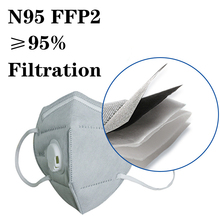 10pcs/lot N95 Anti-pollution Respirator Mask Prevent Saliva Droplets Infection Dust Respirator PM2.5 Washable Reusable FFP2 KF94