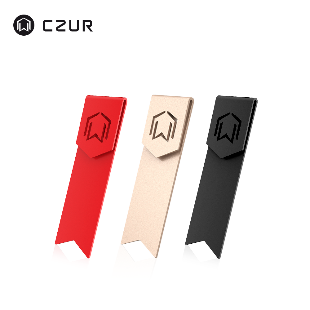 CZUR Metal Bookmark For Reading Book Stylish Design Durable Paper Clip Marker For Kids School Stationery Office Supply Gift Red