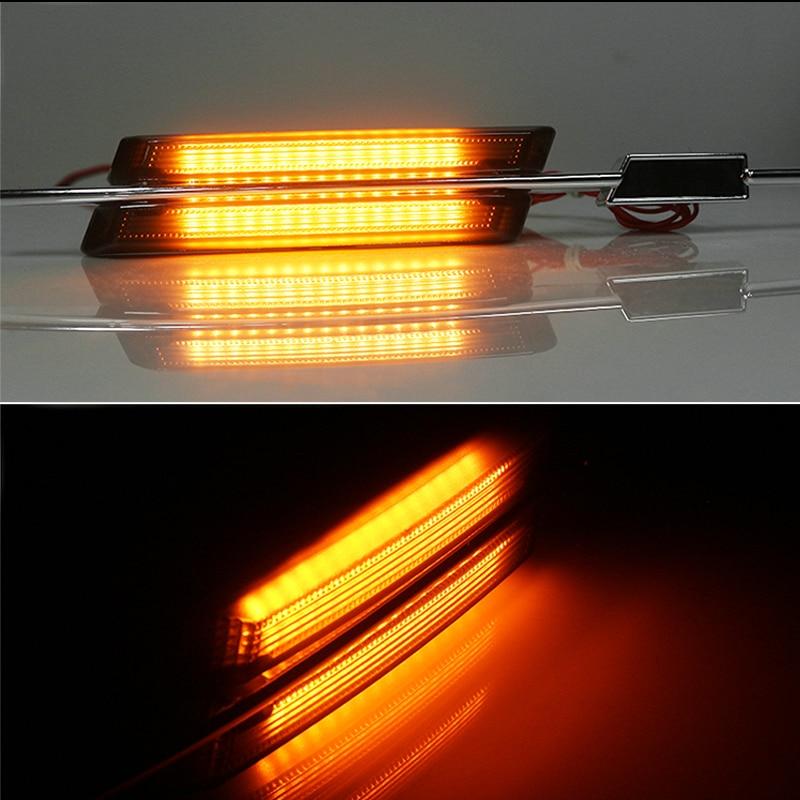 2 x M-Style Fender Smoked Amber LED Side Indicators