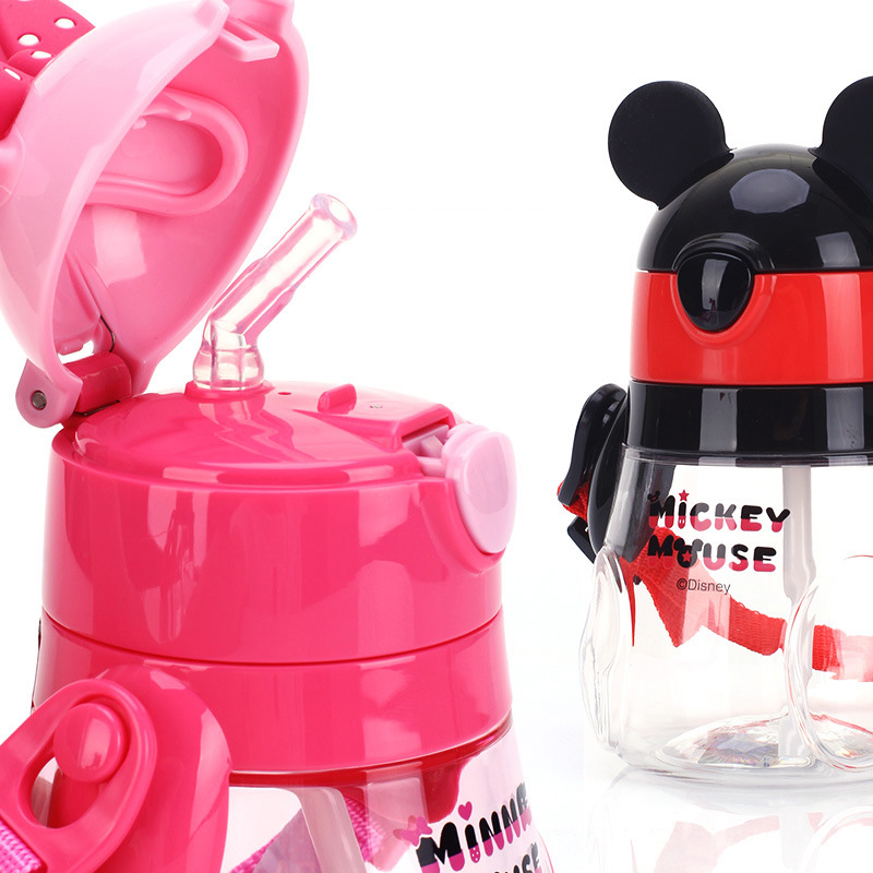 Disney Children Straw Cup Baby Portable Leak-Proof Cup Sports Straw Back Water Cup Creative Kettle