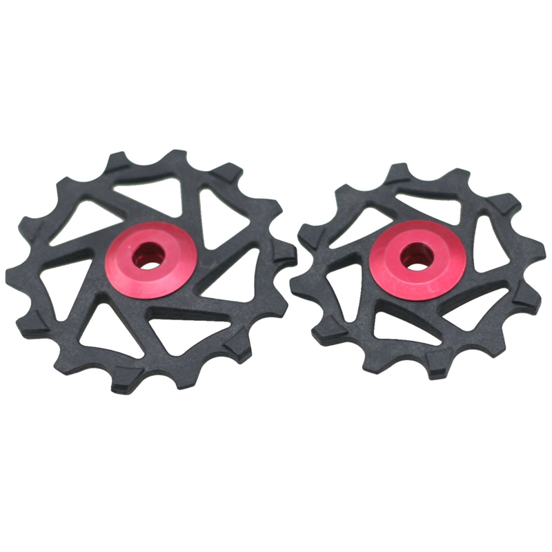12T 14T Bike Ceramic Bearing Derailleur Pulley Bicycle Rear Dial Pulley For Shimano XTR M9000 M980 M8000 Red