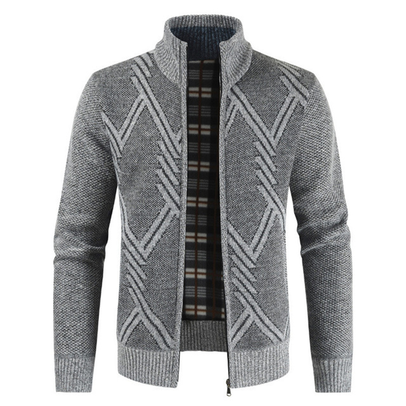 NEGIZBER 2019 New Autumn Winter Jacket Men Coats Solid Slim Fit Thick Fleece  Coats Men Jacket Casual Stand Collar Zip Jacket Men|Jackets| - AliExpress