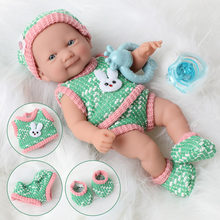 10 inch bebe reborn doll lifelike newborn dolls education toys 25cm Simulation soft Silicone pacifier Sweater waterproof dolls(China)