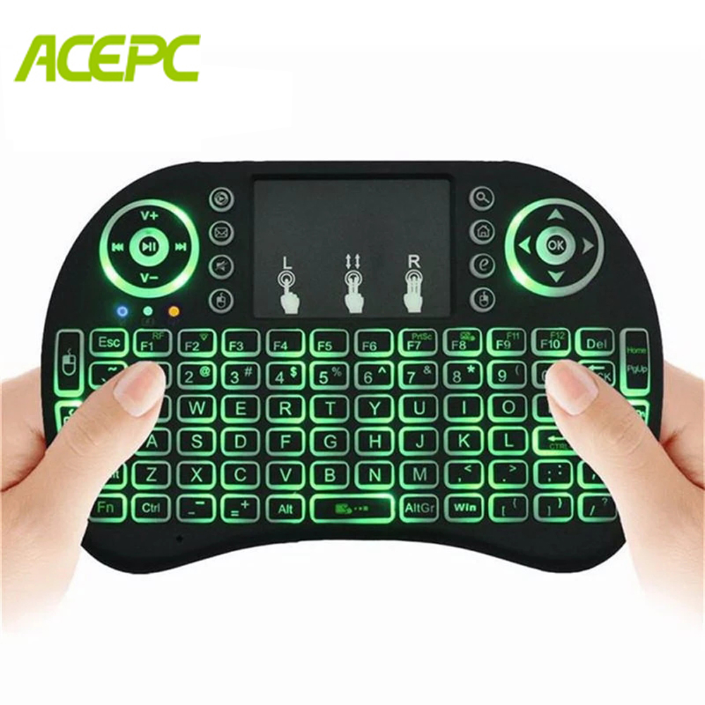 I8 Mini Keyboard 2.4GHz Wireless Keyboard Air Mouse Touchpad For Android TV BOX Mini PC Backlight With Russian English Keyboard