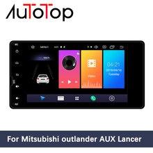 """AUTOTOP 7 """"2 Din Android 10.0 odtwarzacz multimedialny dla Outlander Lancer ASX 2012 2018 głowica radia samochodowego nawigacja GPS Mirrorlink"""
