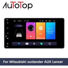 AUTOTOP Radio Multimedia con GPS para coche, Radio con reproductor, Android 10,0, pantalla de 7 pulgadas, 2 Din, navegador, Mirrorlink, para Outlander Lancer ASX