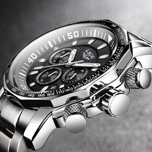 Relogio Masculino hommes montres LIGE haut marque de luxe affaires Quartz horloge grand cadran mode étanche militaire Sport montre hommes(China)