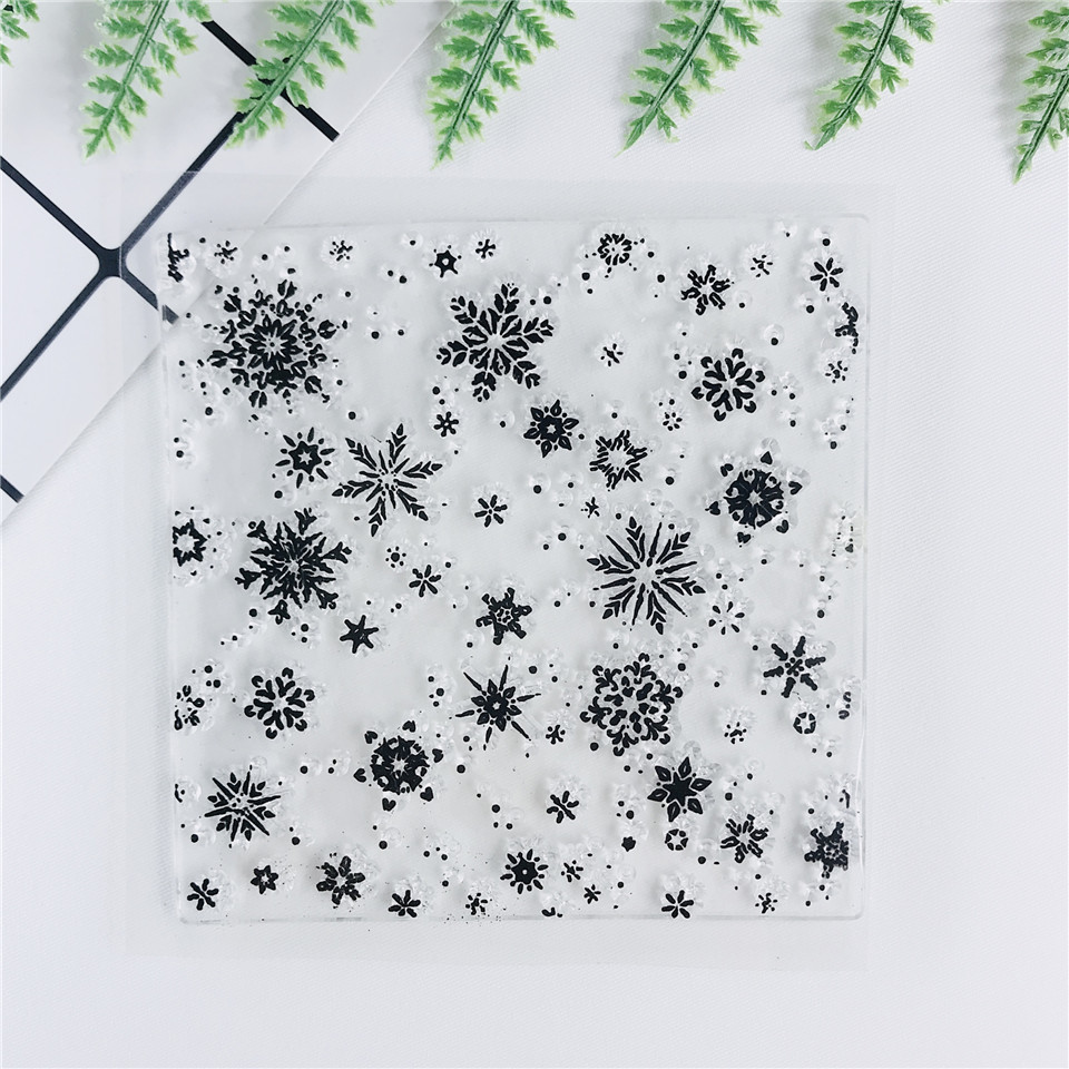 Snowflake Transparent Silicone Clear Rubber Stamp Cling Diary Card Scrapbooking.