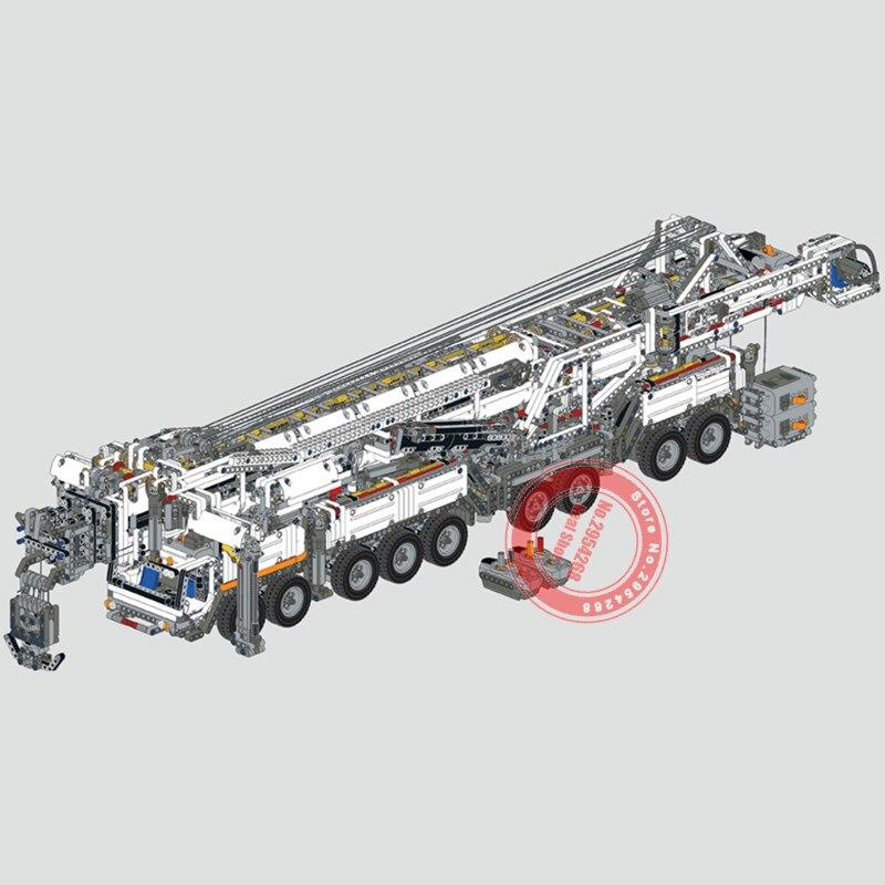 ใหม่ RC มอเตอร์ Power ฟังก์ชั่น Crane LTM11200 Fit Legoings Technic MOC 20920 ชุด Building Blocks อิฐของขวัญของเล่นวันเกิดคริสต์มาส-ใน บล็อก จาก ของเล่นและงานอดิเรก บน   3