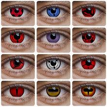 Lentes de contato cor sharingan lentes coloridas cosplay anime olho contatos uchiha sasuke hatake kakashi lente de contato