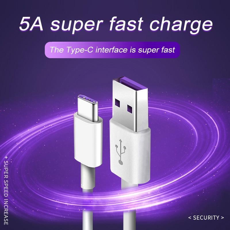 Usb-кабель для быстрой зарядки USB Type C кабель для Huawei P20 P30 P40 Lite mate 30 Pro, кабель для синхронизации данных, мобильный телефон USB кабель для передачи...