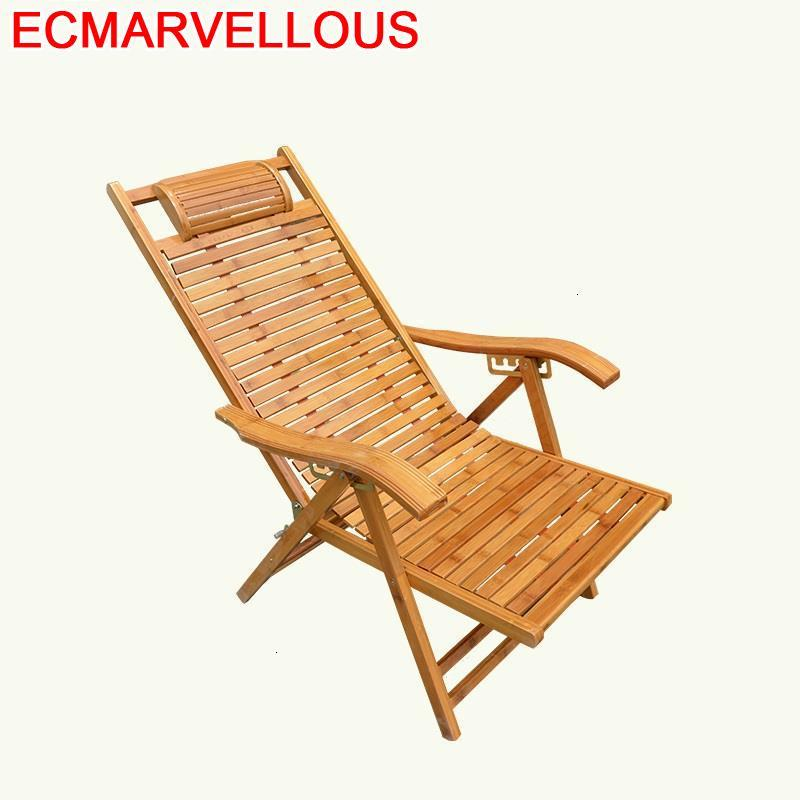 Para Sala Modern Armchair Chair Abatible Cama Plegable Sillon Reclinable Folding Bed Bamboo Fauteuil Salon Chaise Lounge