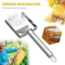 Нержавеющая сталь нож-скребок для пчеловодов вилка Пчеловодство Мед для распечатывания сотов пчелиный улей лопаты LBShipping