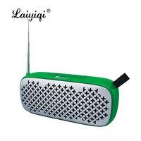 Laiyiqi BT speakers popular altavoz bluetooth con radio FM portable leather belt USB Handfree call bafles de sonido caixa f5 dia