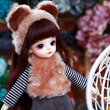 دمية Miyo LCC BJD SD نموذج جسم 1/6 للأولاد والبنات ألعاب من الراتينج عالية الجودة كرات عيون مجانية دمية مشتركة لمتجر الأزياء