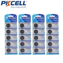 20 шт./4 упаковки, Литиевые кнопочные батареи PKCELL CR2032 3 в, 5004LC BR2032 DL2032 ECR2032 KECR2032