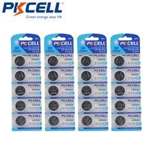 20Pcs/4Pack PKCELL CR2032 3V Lithium Button cell Battery 5004LC BR2032 DL2032 ECR2032 KECR2032, SB T51  Lithium Batteries