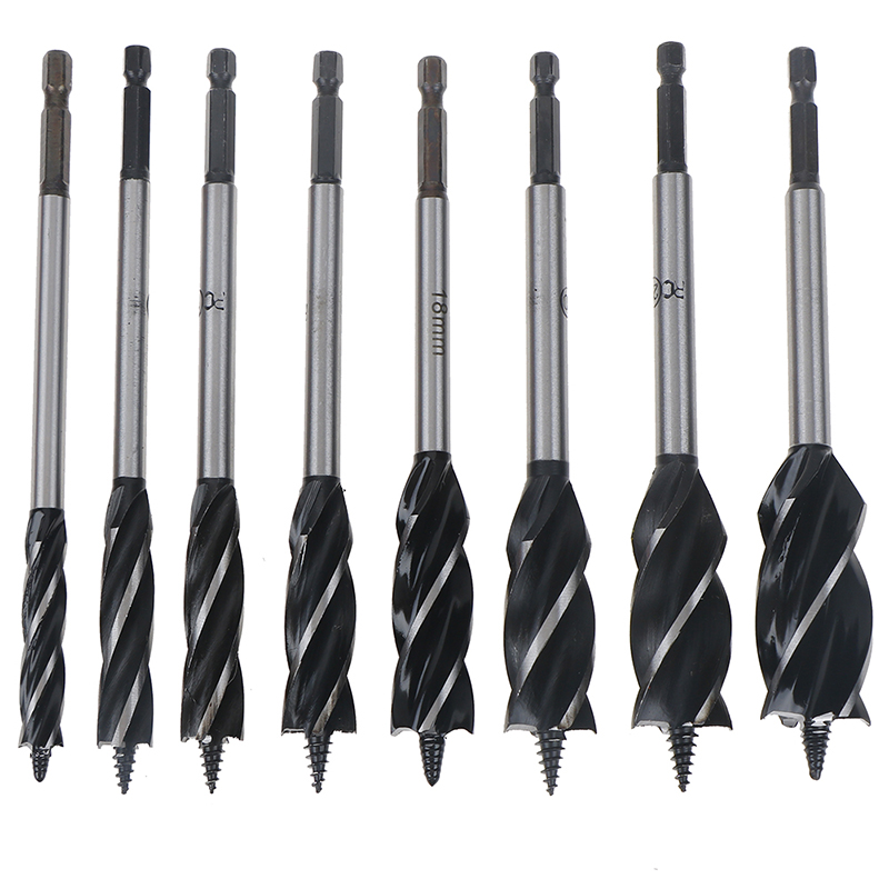 HUXUAN Alloy Twist Drill Bit Set Steel Open Shallow Hole Spiral Drill Bits 10-25mm Spiral Hole Drill Woodworking Tools Hot Sale