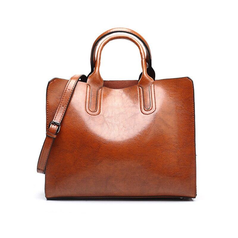 Sacs à main femmes en cuir véritable sac à bandoulière pour femmes poche zippée grande capacité mode 2020 noir femmes sac à provisions - 5