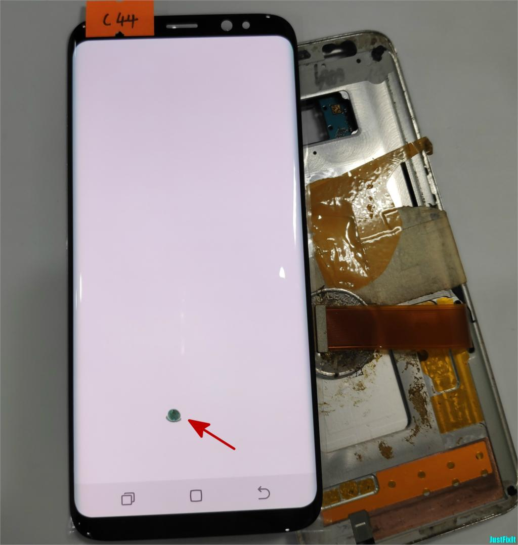 NO C44 For Samsung Galaxy S8 G950F G950A G950FD Burn in shadow Lcd Display Touch Screen