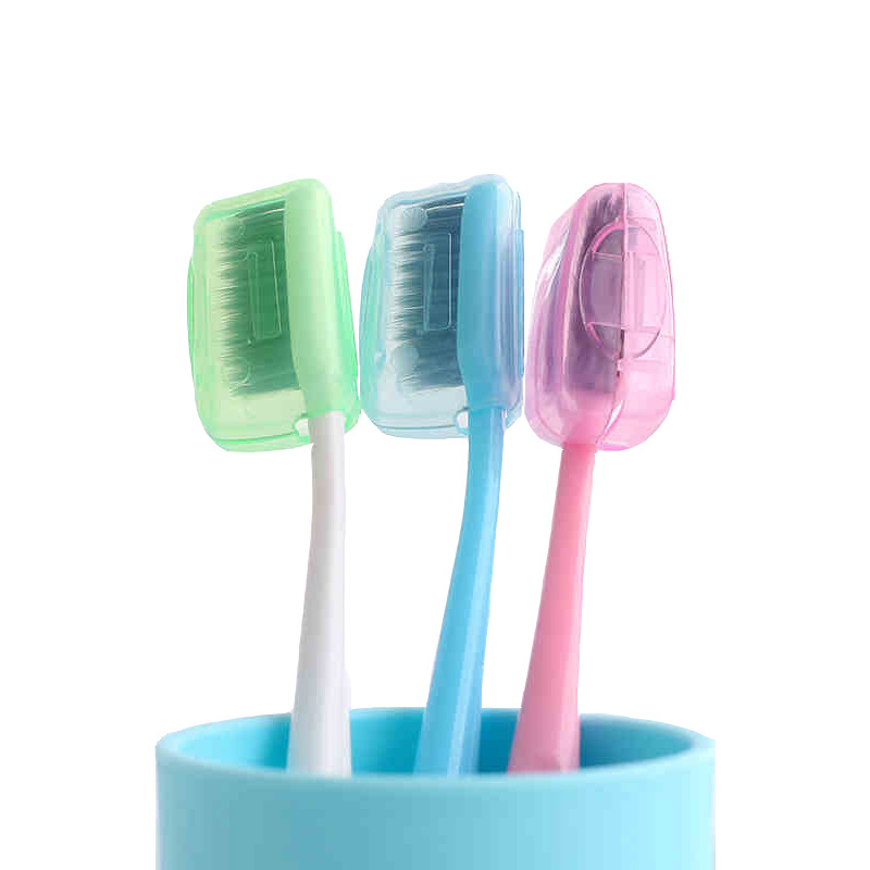 5pcs Fashion Toothbrush Cover Case Cap Plastic Suitcase Travel Accessories Holder Baggage Boarding Packing Portable Organizer