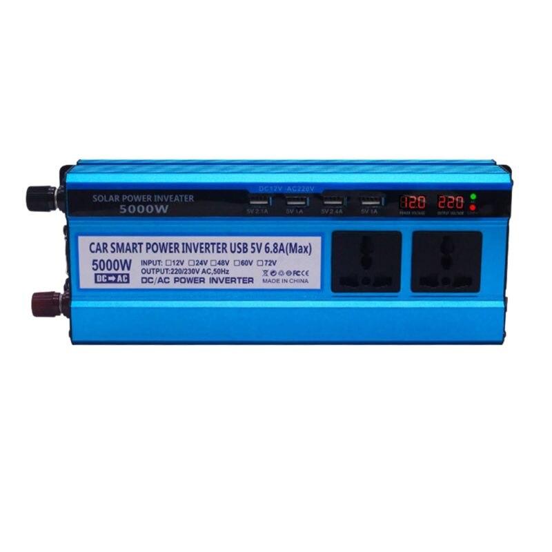 Solar Inverter DC 12/24V zu AC 220V 500/3000/4000/5000W 4 USB Ports 2/3 Steckdosen G6KA