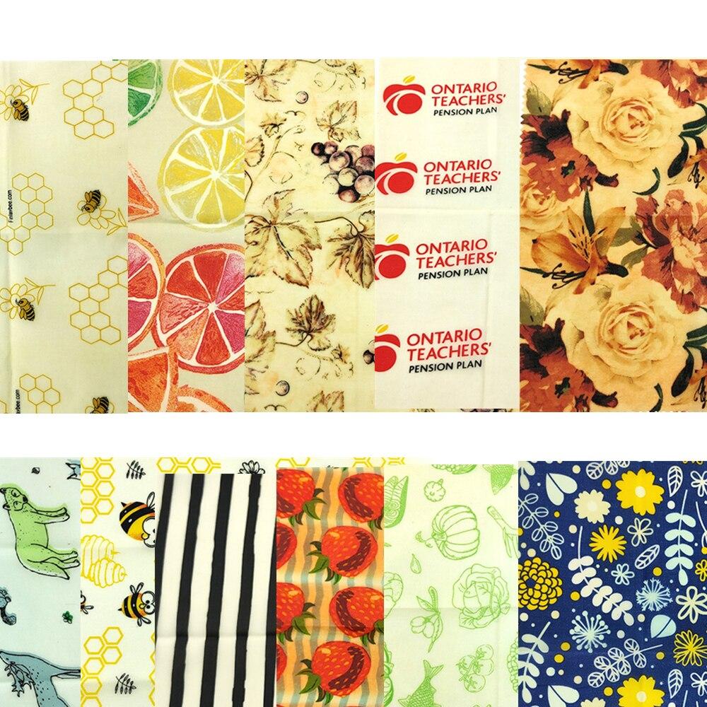 Упаковка для сохранения свежести продуктов, свежая ткань пчелиного воска, многоразовая пластиковая оберточная уплотнительная крышка, раст...