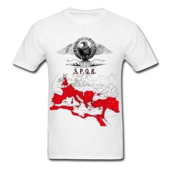 Spqr imperium rzymskie mapa męska koszulka sprzedaż 100% bawełna T Shirtadult koszulka bawełniana Unisex Tees